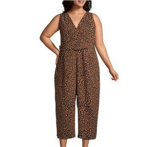 WORTHINGTON Cheetah Print Jumpsuit